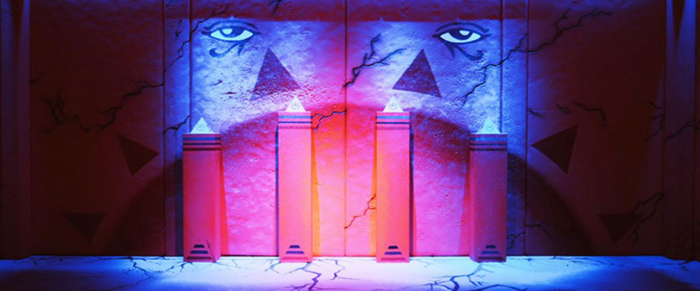 inside the Egyptian themed escape room